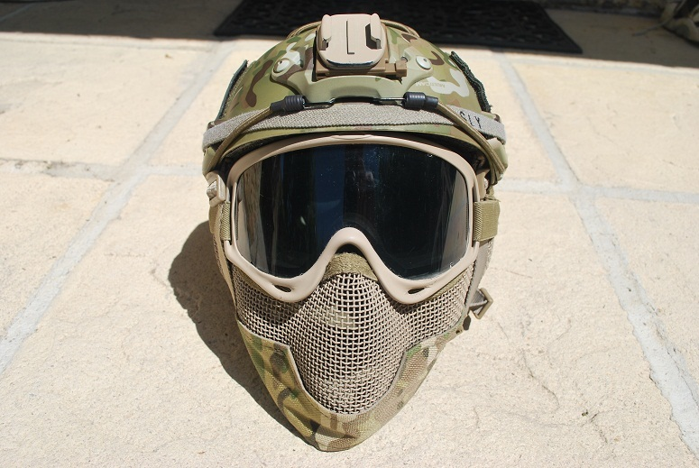 Montage casque Emerson MULTICAM